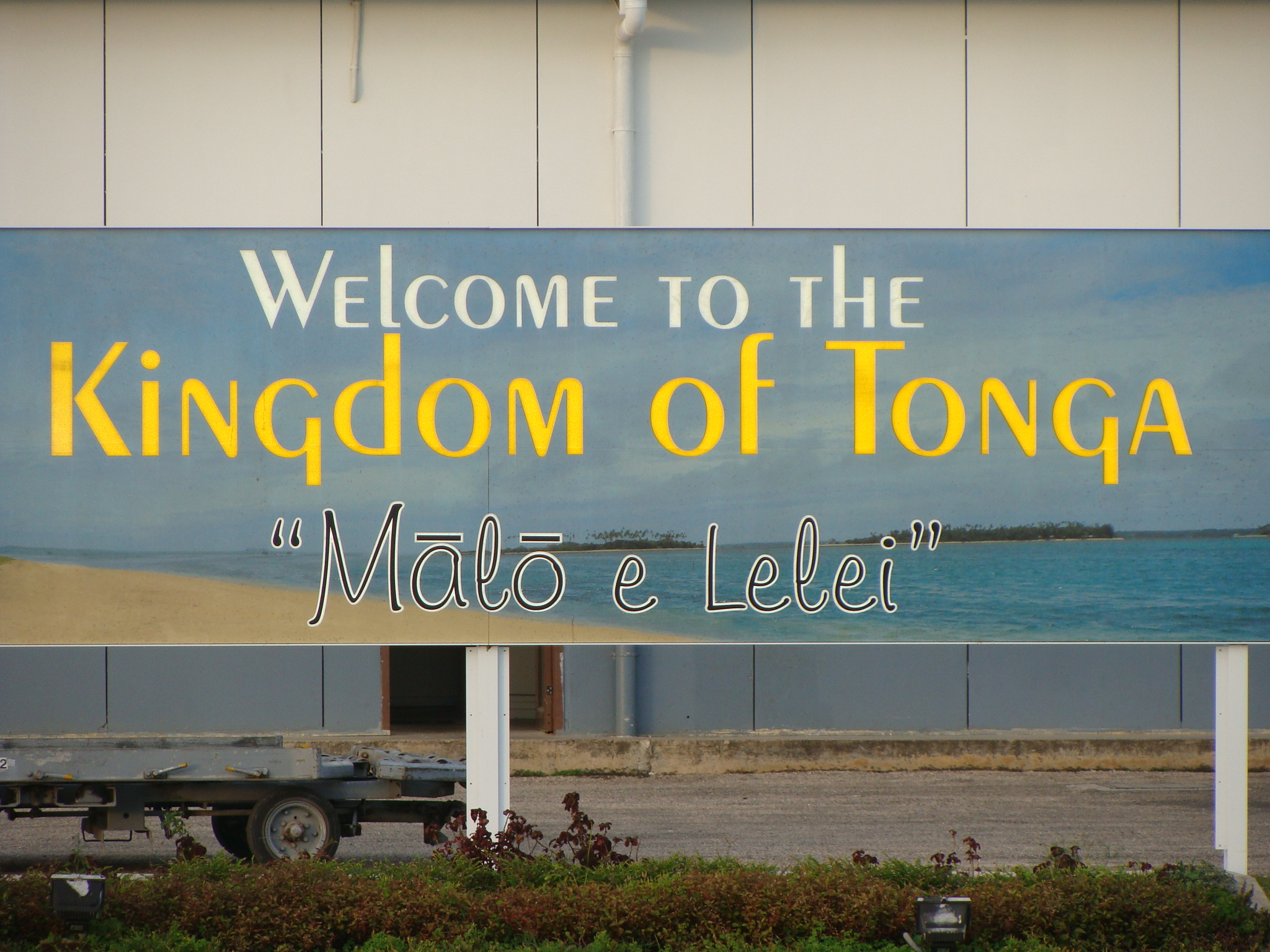 """Malo e Lelei"" welcomes visitors to the Kingdom of Tonga • Courtesy Lindsey Christine"